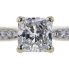 0.90 ct. Radiant Cut Bridal Set Ring, E, VVS2 #1