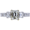 0.90 ct. Emerald Cut 3 Stone Ring, J, VS1 #3