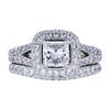 0.96 ct. Princess Cut Bridal Set Ring, G-H, SI1-SI2 #2