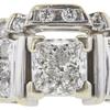 1.51 ct. Princess Cut Bridal Set Ring, F, SI1 #4