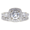 1.02 ct. Round Cut Bridal Set Ring, G, VS1 #3