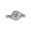 1.01 ct. Round Cut Halo Ring, H, VS2 #3