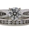 1.34 ct. Round Cut Bridal Set Ring #1