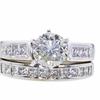 1.23 ct. Round Cut Bridal Set Ring, J, I1 #3