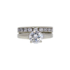 1.25 ct. Round Cut Bridal Set Ring, H, SI2 #3