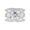2.64 ct. Round Cut Bridal Set Ring, H, I2 #3