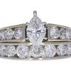 0.82 ct. Marquise Cut Bridal Set Ring, G, SI2 #3