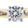 0.90 ct. Round Cut Solitaire Ring, H, SI2 #1