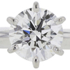 1.01 ct. Round Cut Bridal Set Ring, F, VVS2 #4