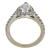 1.03 ct. Pear Cut Central Cluster Ring, F, SI2 #4