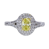 0.52 ct. Oval Cut Halo Tiffany & Co. Ring, Fancy, SI1 #2