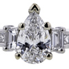 .95 ct. Pear Cut Bridal Set Ring #4