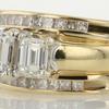 0.76 ct. Emerald Cut Bridal Set Ring #3
