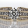 1.01 ct. Round Cut Central Cluster Ring #1
