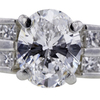 1.84 ct. Oval Cut Bridal Set Ring #4
