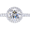 1.21 ct. Round Cut Halo Ring, D, VVS1 #3