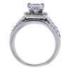 1.30 ct. Princess Cut Bridal Set Ring, H-I, SI1 #3