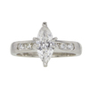 0.95 ct. Marquise Cut Solitaire Ring, F, I1 #3