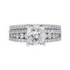 1.52 ct. Cushion Modified Cut Bridal Set Ring, J, I2 #3