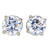 Round Cut Stud Earrings, H-I, SI2-I1 #1