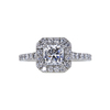 0.73 ct. Radiant Cut Halo Ring, D, VS2 #3
