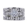 0.99 ct. Princess Cut Bridal Set Ring, E, SI2 #4