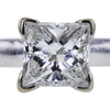 1.02 ct. Princess Cut Solitaire Ring, G, I1 #4