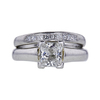 1.19 ct. Princess Cut Bridal Set Ring, G, SI2 #3