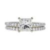 1.5 ct. Princess Cut Bridal Set Ring, I, VS2 #3