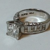 3.02 ct. Princess Cut Bridal Set Ring #4