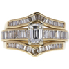 1.01 ct. Emerald Cut Bridal Set Ring, H, SI1 #3