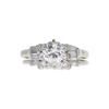 0.85 ct. Round Cut Bridal Set Ring, I, I1 #4