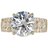 4.03 ct. Round Cut Solitaire Ring, I, I1 #3
