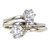 0.72 ct. Round Cut Right Hand Ring, H, I1 #4
