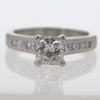 1.05 ct. Princess Cut Bridal Set Ring #3