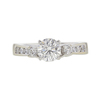 0.76 ct. Round Modified Brilliant Cut Bridal Set Ring, I, SI1 #3