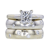 1.00 ct. Princess Cut Bridal Set Ring, G, SI1 #3