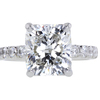3.20 ct. Cushion Cut Solitaire Ring #3