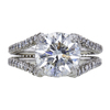 3.37 ct. Round Cut Solitaire Ring, H, SI2 #3
