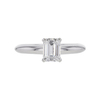 0.78 ct. Emerald Cut Solitaire Ring, D, VS1 #3