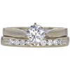 0.61 ct. Round Cut Bridal Set Ring, G, SI2 #3