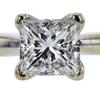 1.02 ct. Princess Cut Solitaire Ring, I, VS1 #4