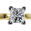 1.00 ct. Princess Cut Solitaire Ring, G, VS2 #4
