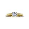 0.61 ct. Round Cut Bridal Set Ring, G, VS1 #3