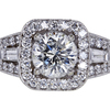 1.02 ct. Round Cut Halo Ring #1