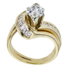 0.92 ct. Marquise Cut Bridal Set Ring, I-J, VS2-SI1 #3