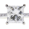 1.74 ct. Princess Cut Bridal Set Ring, K, I2 #3