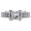 1.1 ct. Princess Cut Solitaire Ring, H, SI2 #3