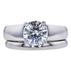 1.60 ct. Round Cut Bridal Set Ring, G, SI1 #1