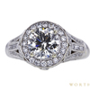 1.71 ct. Round Cut Halo Ring, I, SI2 #3